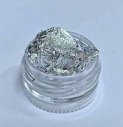 Жата фольга срібло сусальне золото для декору срібляста для дизайну нігтів - Фольга Жатка Потль