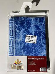 """Шторка для ванної ТМ """"Міранда"""" блакитні хвилі ,з водовідштовхувальним шаром (180*200)"""