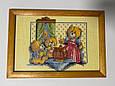 Картина вышивка 5 картин Семья мишек, ручная работа, картина вишивка ручної роботи, фото 2