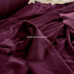 Ткань плюш велюр бордовый