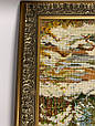 Картина вышивка Зимний лес 38*38 см, ручная работа, картина вишивка ручної роботи, фото 3