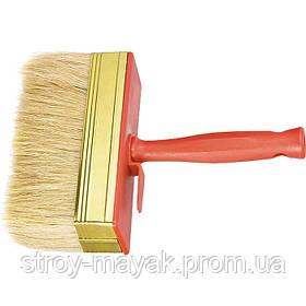 Кисть-макловица 30 х 100 мм, натуральная щетина, пластмассовый корпус, пластмассовая ручка