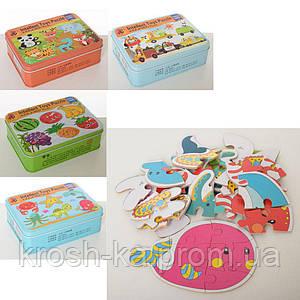 Деревянная игрушка Пазлы в металлической коробке Intellect Toys в ассортименте Китай MD2171