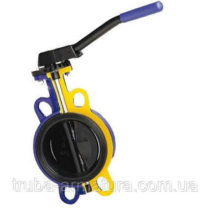 Затвор поворотний Батерфляй з чавунним диском ZETKAMA PN 16 DN 250, фото 2