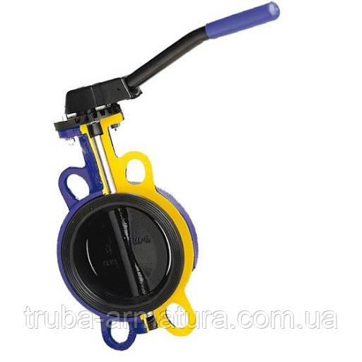 Затвор поворотний Батерфляй з чавунним диском ZETKAMA PN 16 DN 250