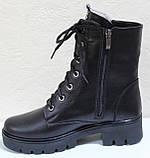 Ботинки высокие женские на байке кожаные от производителя модель БМ354Д, фото 3