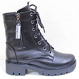Ботинки высокие женские на байке кожаные от производителя модель БМ354Д, фото 2