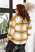 Шерстяная женская клетчатая рубашка большого размера, размеры 48-54, 56-62, фото 4