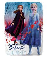 Детский флисовый плед Frozen II Анна и Эльза Холодное Сердце 2 - подарок для девочки