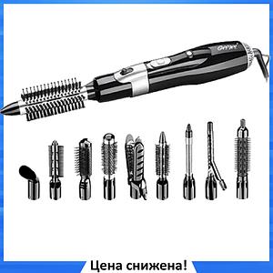 Фен-стайлер для волос 10 в 1 Gemei GM-4833 - воздушный стайлер, фен-щетка, набор для укладки волос
