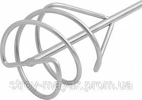 Миксер оцинкованный для песчано-гравийных смесей 80 х 400 мм хвостовик SDS Plus MTX