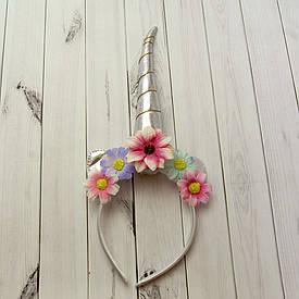Ріг Єдинорога (срібло) з квітами