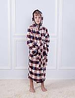 Детский махровый халат для мальчиков 10-16 лет