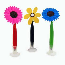Ручка шариковая Цветок с колпачком
