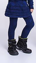 Теплые Детские лосины для девочки из Вирджинии шерстью Viaelisia Италия 7035 Синий