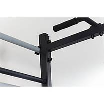 Комбинированная передвижная гимнастическая стенка Универсал СТУП черный ТМ Ладас, фото 2