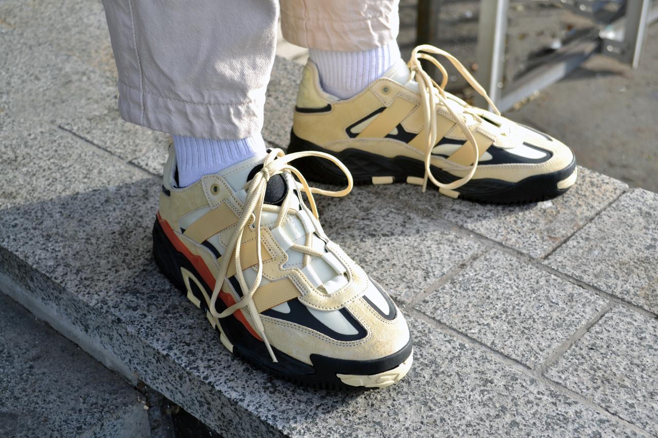Мужские кроссовки Adidas NiteBall Biege ( Реплика )