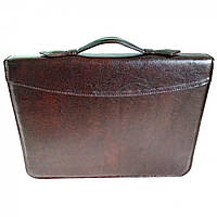 Папка портфель для документов кожаная Дорожка Коричневая 6102, КОД: 1890041