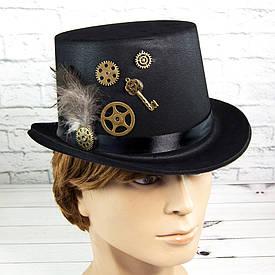 Карнавальная шляпа Стимпанк Виндария (флок) 9363