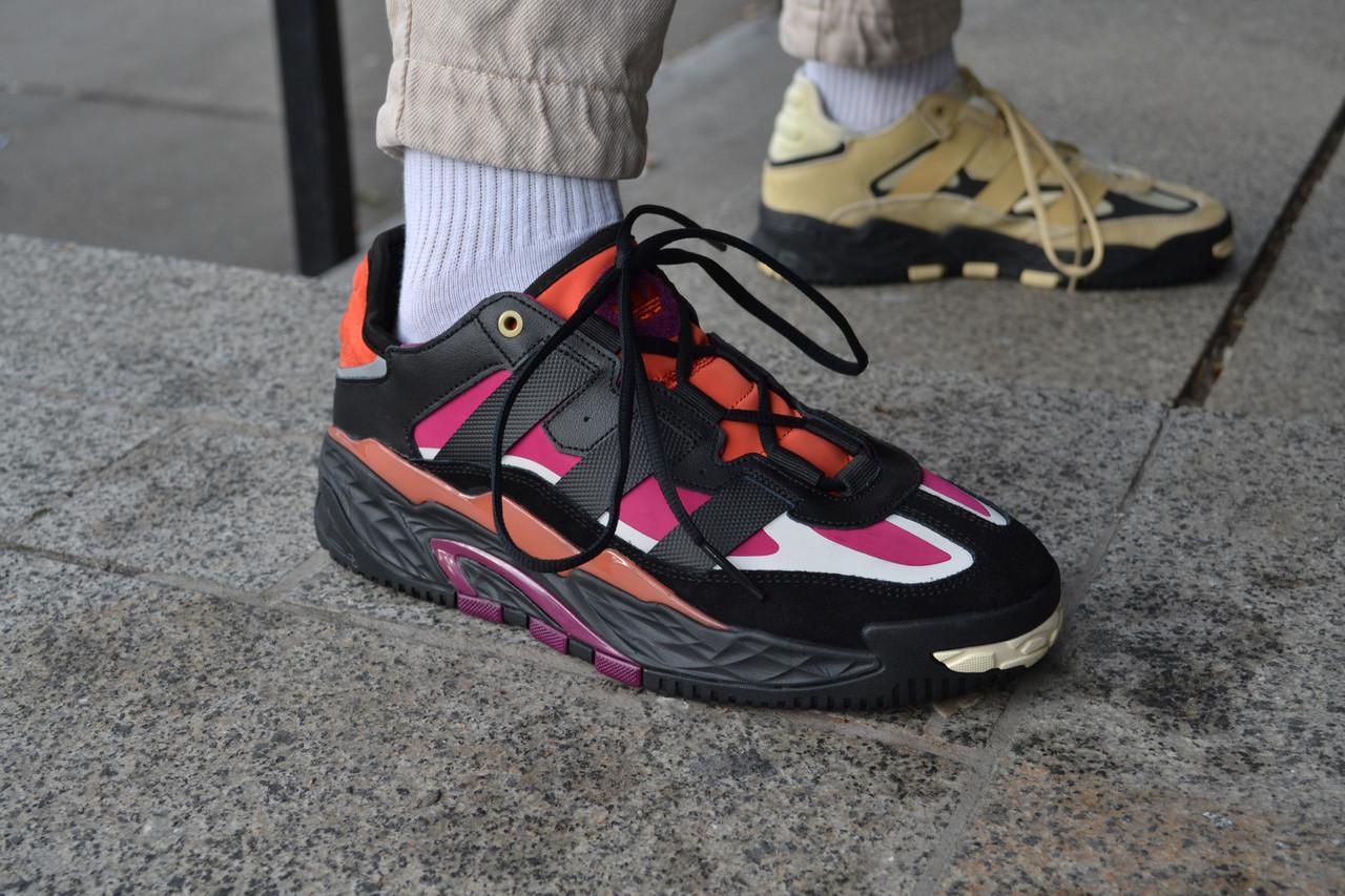 Мужские кроссовки Adidas NiteBall Black Purple ( Реплика ) Остался 43 размер