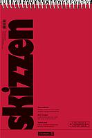 Скетчбук А5 Brunnen верхняя спираль обложка красная 110 г м2, 30 листов 1047551, КОД: 1931375