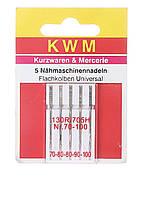 Набор иголок для швейной машины KWM 5 шт металлик K02-110027, КОД: 1846575
