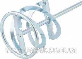 Миксер оцинкованный для красок и штукатурных смесей 60 х 400 мм хвостовик SDS Plus MTX