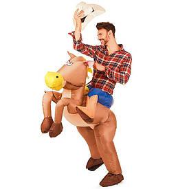 Надувний костюм Вершник на коні