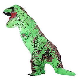Надувний костюм Тираннозавр (зелений)