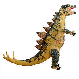 Надувний костюм Динозавр (коричневий)
