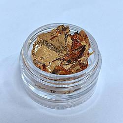 Фольга жата для нігтів, Сусальне золото для дизайну нігтів повітряна - Декор нігтів для манікюру
