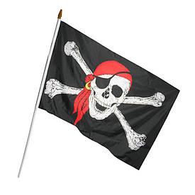 Піратський Прапор 45х30см з пластиковою ручкою №2