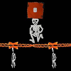 Гірлянда Хеллоуїн 3D з підвіскою Скелет
