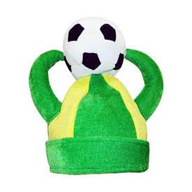 Шапка Футбол з рогами і м'ячем велюр