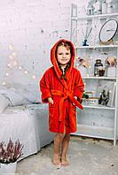 Детский банный халат с ушками для девочки натуральный, цвет оранжевый, на 3/4 лет, производитель Турция , Nusa
