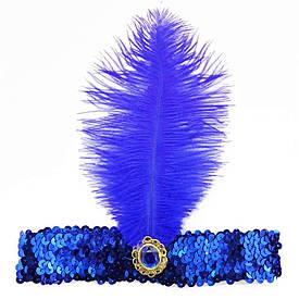 Повязка на голову в стиле чикаго (синяя)