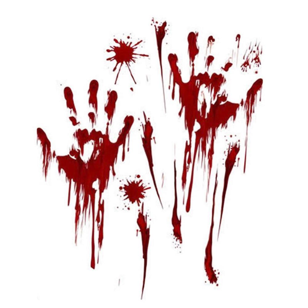 Декоративная наклейки на стену или пол кровавые следы Руки