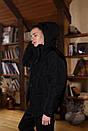 Куртка зимова Оверсайз чорна, фото 4