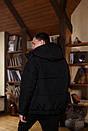Куртка зимова Оверсайз чорна, фото 5