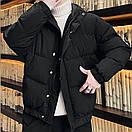 Куртка зимова Оверсайз чорна, фото 7