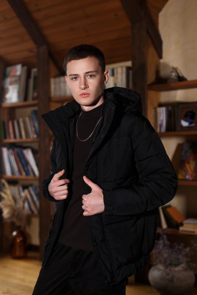Куртка зимова Оверсайз чорна