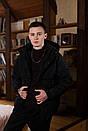 Куртка зимова Оверсайз чорна, фото 8