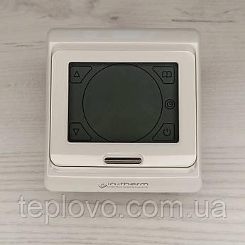 Терморегулятор програмований IN-THERM E 91.716, сенсорний програматор для теплої підлоги