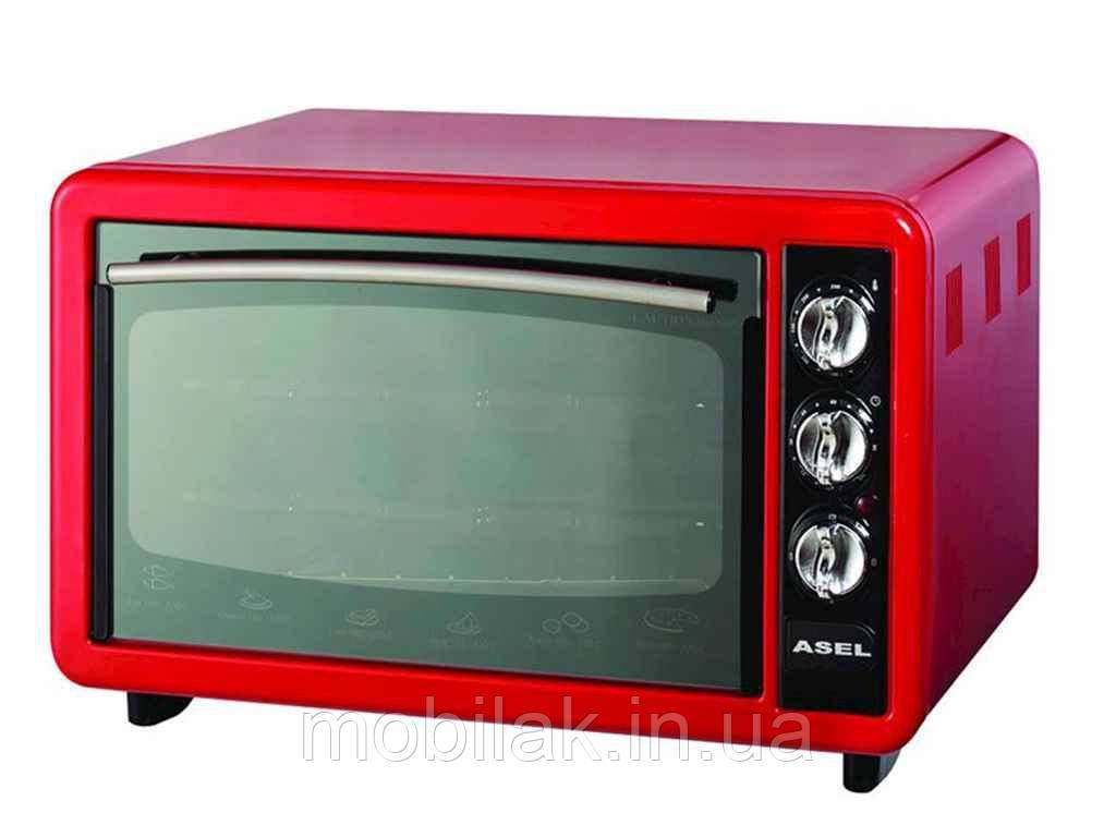 Електродуховка з тайм. (1300Вт) 40л (червона) ТМ ASEL