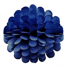 Паперовий шар квітка 20см (блакитно-синій 0005)