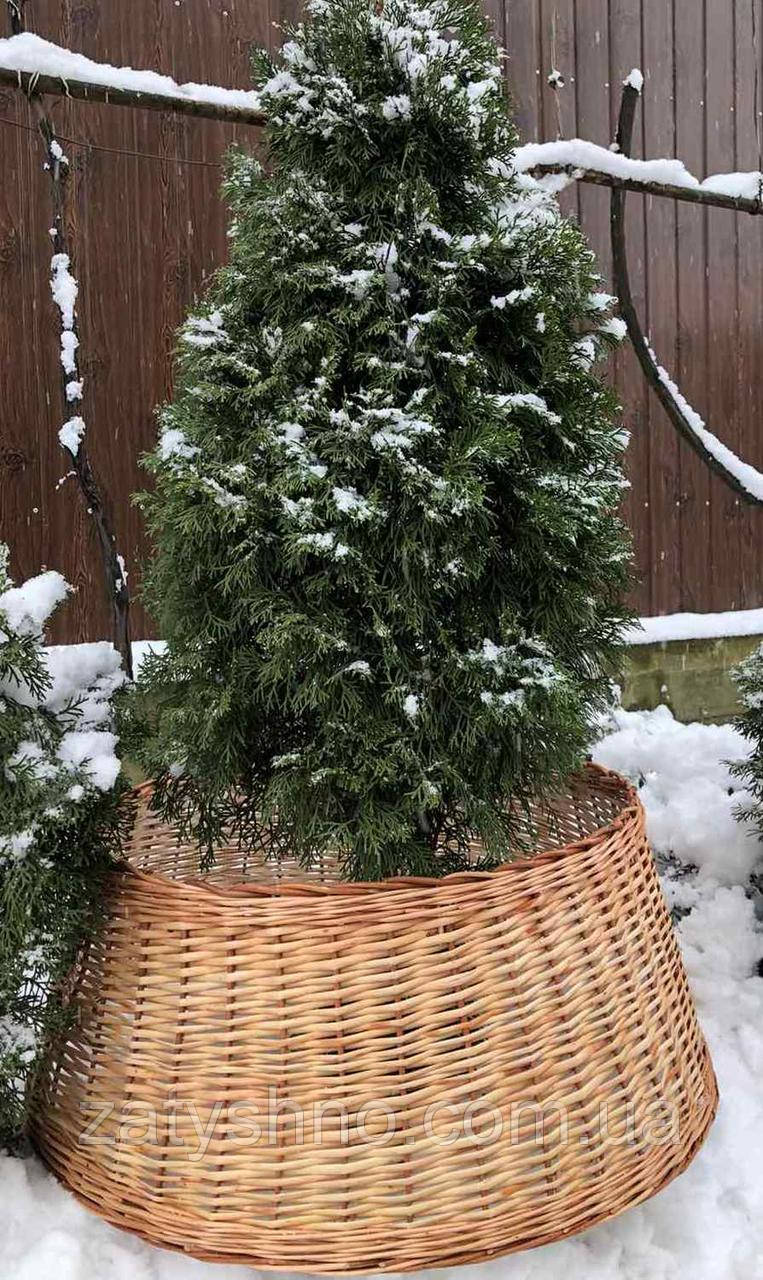 Корзина плетеная для елки, корзина под сосну