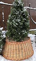 Корзина плетеная для елки, корзина под сосну, фото 1