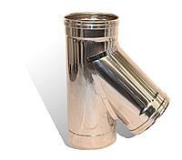 Трійник із нержавіючої сталі Versia-Lux ф 300 мм кут 45 гр 0,6 мм 11930, КОД: 1812351