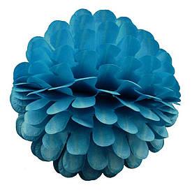 Паперовий шар квітка 20см (лазурний 0003)