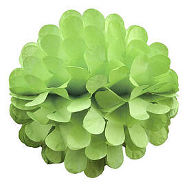 Паперовий шар квітка 20см (салатовий 0013)